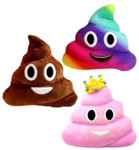 Emoji Kissen kaufen Großer Kachhaufen 3 Stück Set