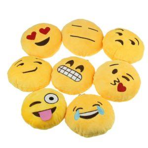 Ukamshop niedlich emoji wahtsapp smiley Kissen