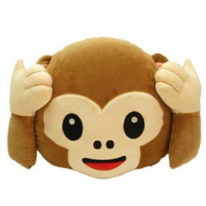 ich höre nichts emoji kissen affe